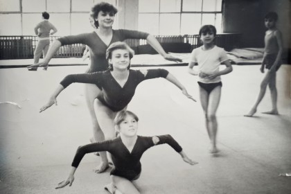 старое фото гимнастика